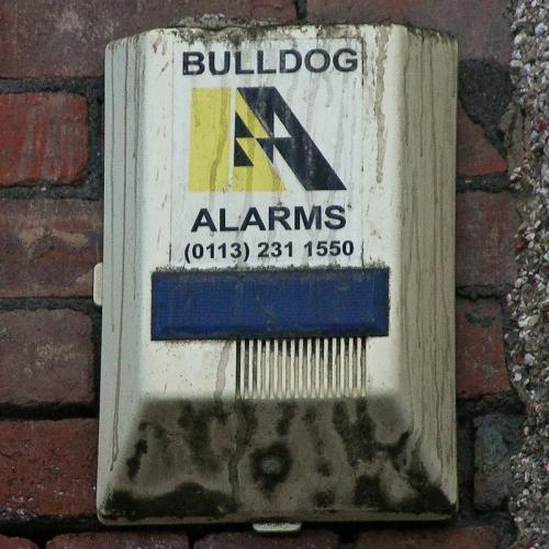 """""""Bulldog Alarms"""" burglar alarm, Sheffield, 2010"""