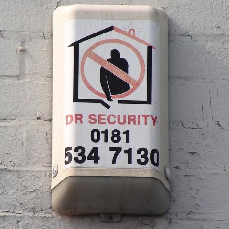 DR Security burglar alarm, London E2, 2007