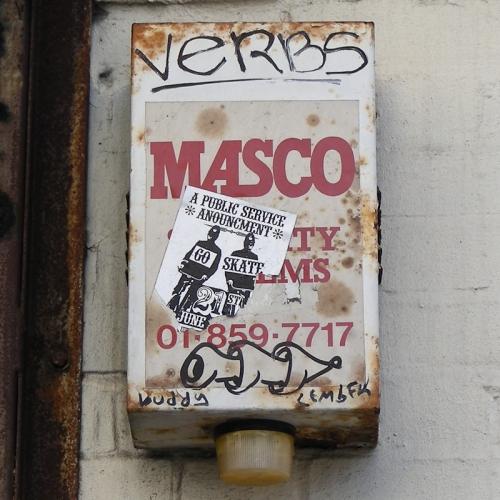 Masco burglar alarm, London SE1, 2007