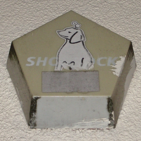 """Shorrock"" burglar alarm with dog sticker, Bristol, 2006"