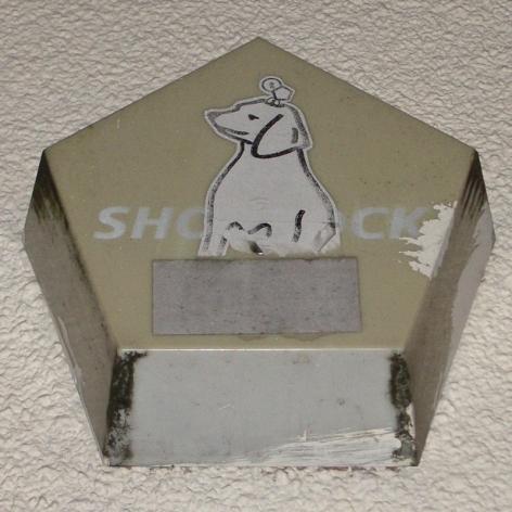 """""""Shorrock"""" burglar alarm with dog sticker, Bristol, 2006"""