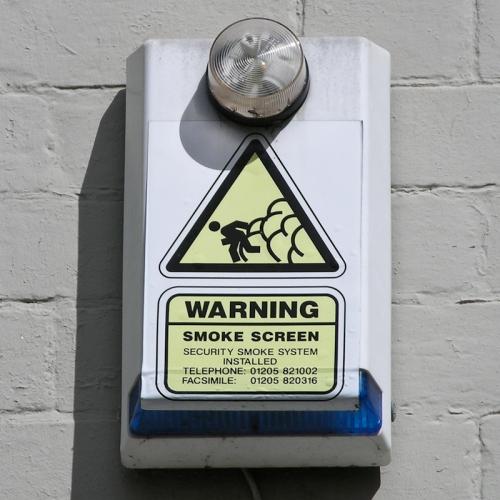 Smokescreen burglar alarm, Derby, 2010