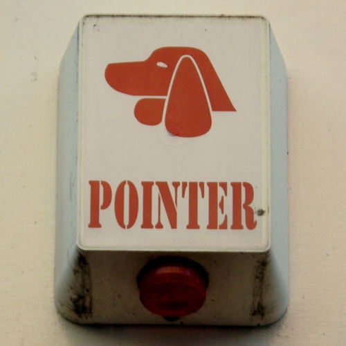 Pointer burglar alarm