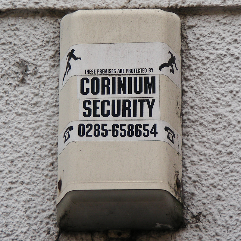 Corinium Security burglar alarm, Cirencester, 2007
