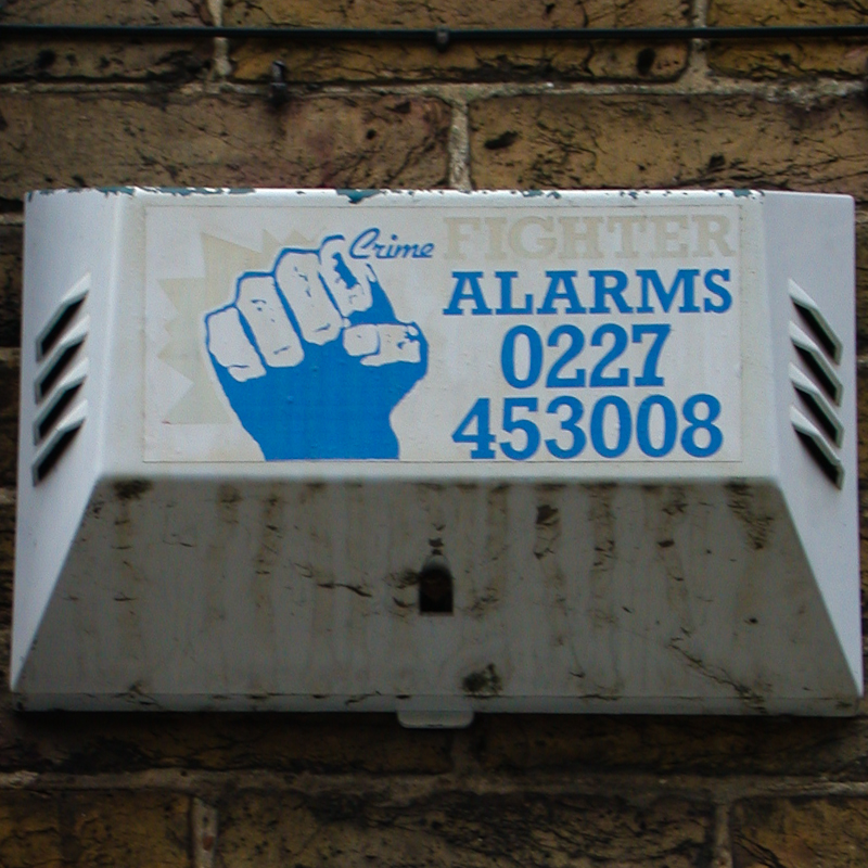 Crime Fighter burglar alarm, Whitstable, 2002
