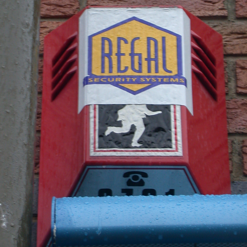 Regal Security Systems burglar alarm, Wandsworth, 2002