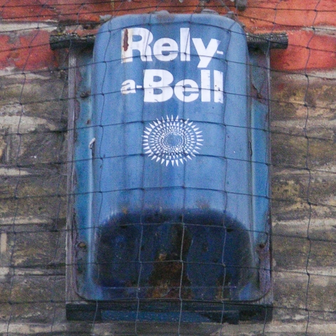 Rely-a-Bell burglar alarm, Wentworth Street London E1, 2010