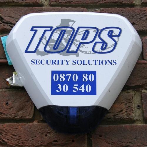 Tops Security Solutions burglar alarm, Aylesbury, 2010