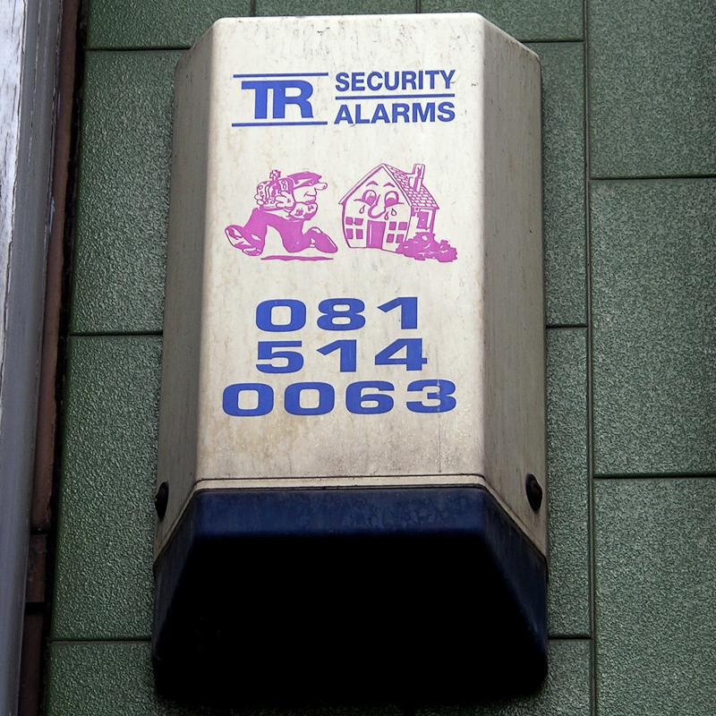 TR Security burglar alarm, Tower Hamlets, 2010
