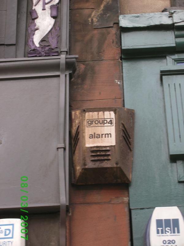 Group 4 burglar alarm, Sauciehall St, Glasgow